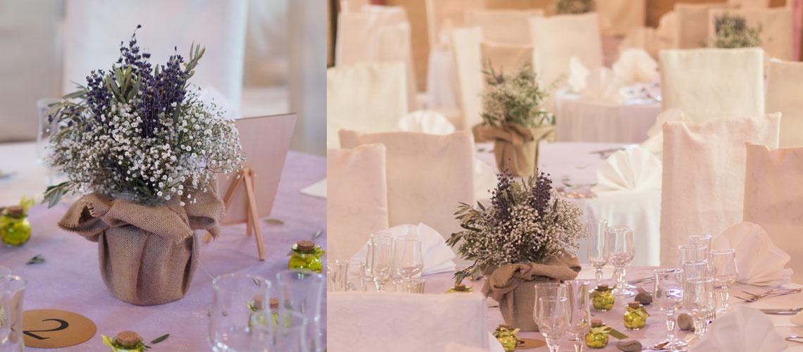 tournesol et lavande un mariage proven al gypsophile et lavande pour les tables des invit s. Black Bedroom Furniture Sets. Home Design Ideas