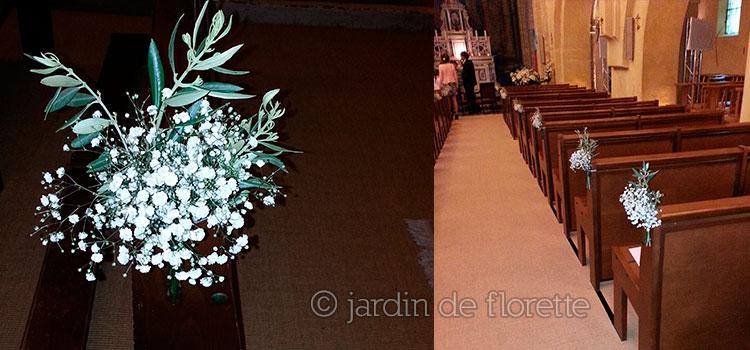 Decoration Eglise Mariage Hiver : Mariage en provence décoration florale des bancs de l