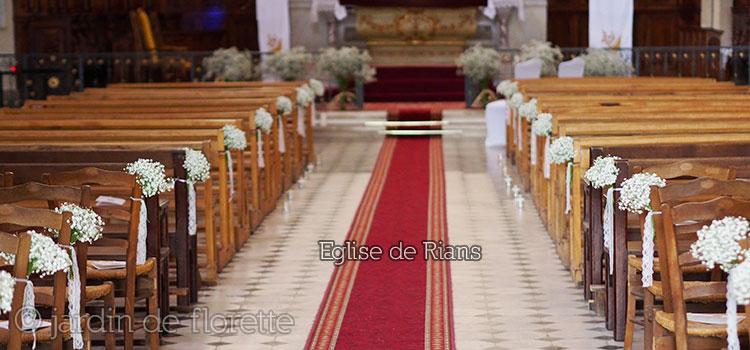 Mariage en provence d coration florale de l 39 glise de rians 83 pour un mariage - Decoration eglise mariage ...